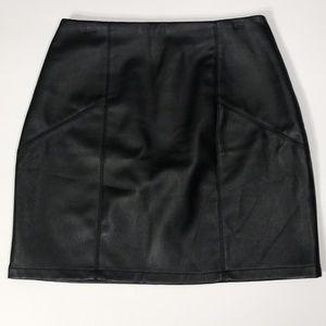 Asos Black Faux Leather Body Con Mini Skirt 4